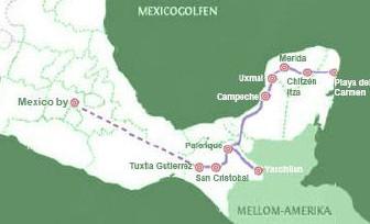 Reisekart Opplev Mexico med Latin Reiser