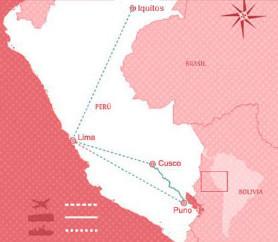 Opplev Peru: Reisekart
